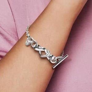 NWT Pandora lariat heart bracelet